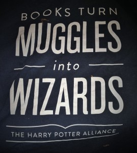 T-shirt I bought from the Harry Potter Alliance.