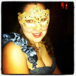 Me at the masquerade, circa 2012.