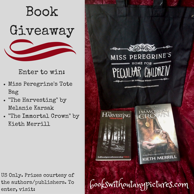 Miss Peregrine tote bag, The Harvesting, The Immortal Crown